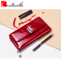 2018 Fashion Women Wallets CONTACT S 100 Genuine Leather Purses Elegant Red Women S Wallets Card