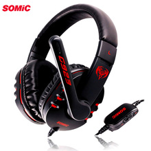 SOMiC G923 DJ deep bass Gaming earphone Headphone with Microphone PC Headset computer game music headband 3.5mm