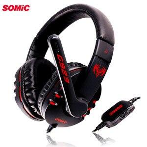 Image 1 - SOMiC G923 DJ tiefe bass Gaming kopfhörer Kopfhörer mit Mikrofon PC Headset computer spiel musik stirnband 3,5mm