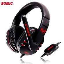 Игровые наушники SOMiC G923 DJ с глубокими басами, наушники с микрофоном, гарнитура для ПК, компьютерные игры, музыкальная повязка на голову 3,5 мм