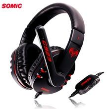 Somic G923 DJ Bass Gaming Earphone Headphone dengan Mikrofon Headset PC Komputer Permainan Musik Ikat Kepala 3.5 Mm
