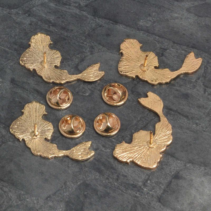 Инь Ян Символ рыбы шпильки китайский Taoist Theory броши значки рюкзак нагрудные эмалированные булавки для друзей подарки ювелирные изделия оптом