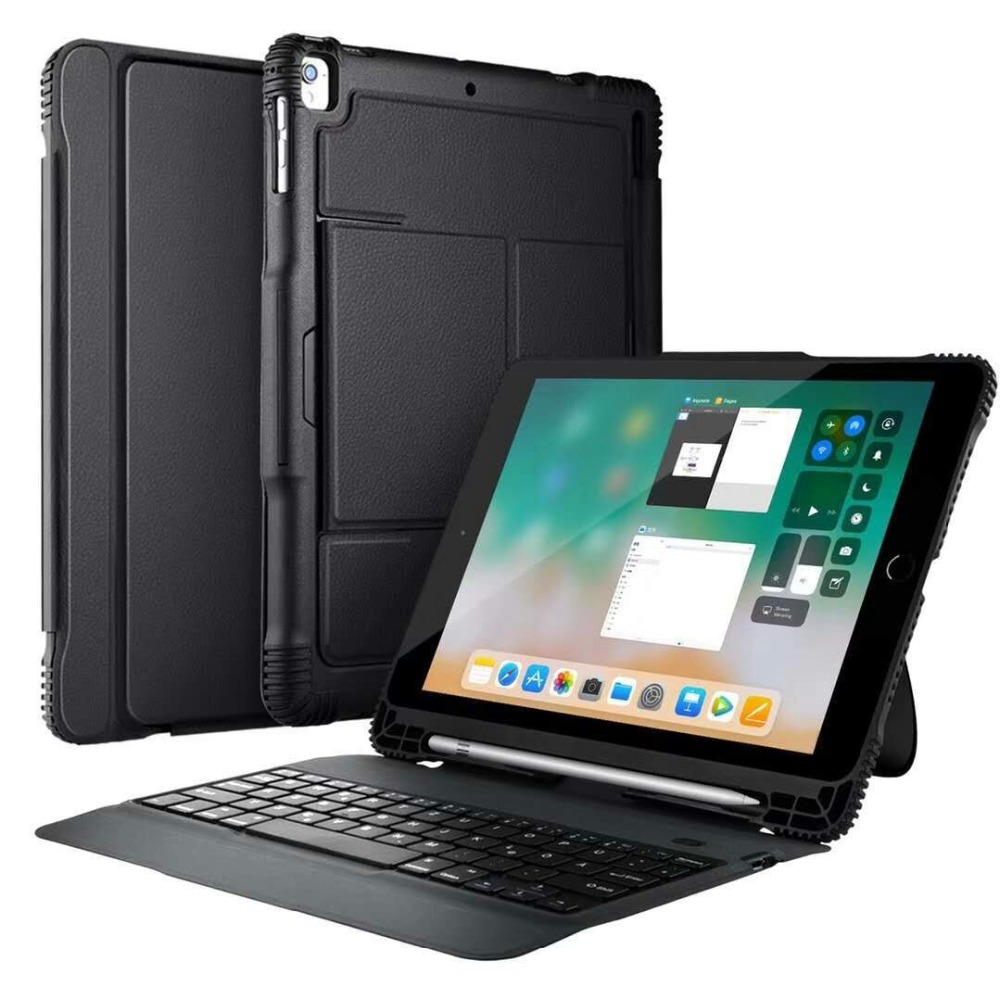 YIFANGHZE 360 Degree Protection bluetooth keyboard for new iPad 9.7 2018&2017, wireless case for iPad pro 9.7 / Air 1 /Air 2