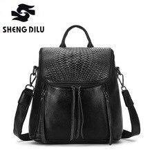 Дизайнерский бренд Женщины Теплые кожаный рюкзак повседневный рюкзак сумка подросток Школа Путешествия Рюкзак Mochila Escolar Militar черный