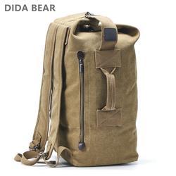 Большой ёмкость рюкзак Человек Дорожная сумка, сумка для альпинизма мужской чемодан Холст ведро сумки на плечо для обувь мальчиков для