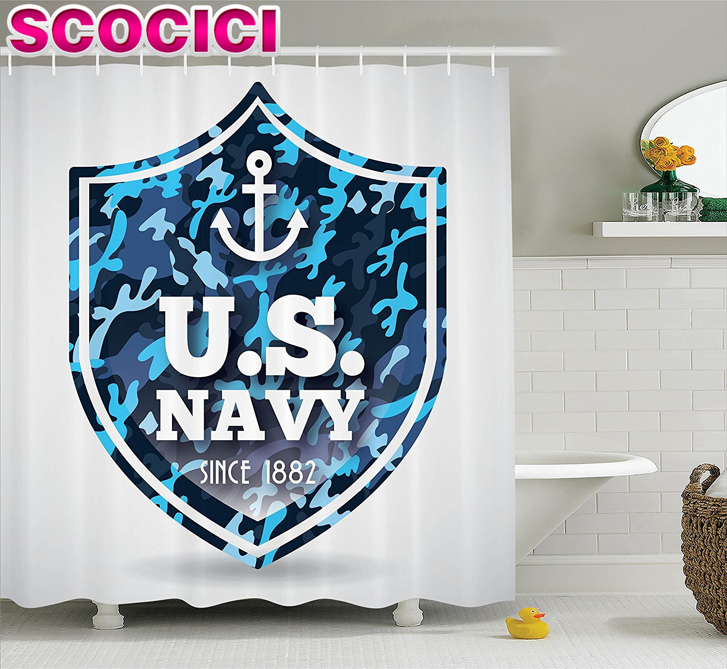 Post That Related With Navy Gobi Shower Curtain