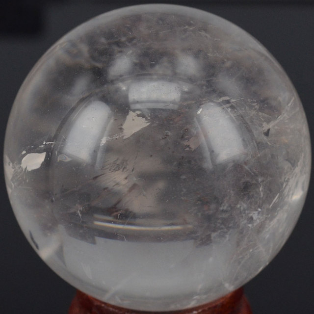 60MM Natural Gemstone Clear Quartz Crystal Sphere Crystal Ball Chakra Healing Reiki Stone Carving Crafts W/Stand