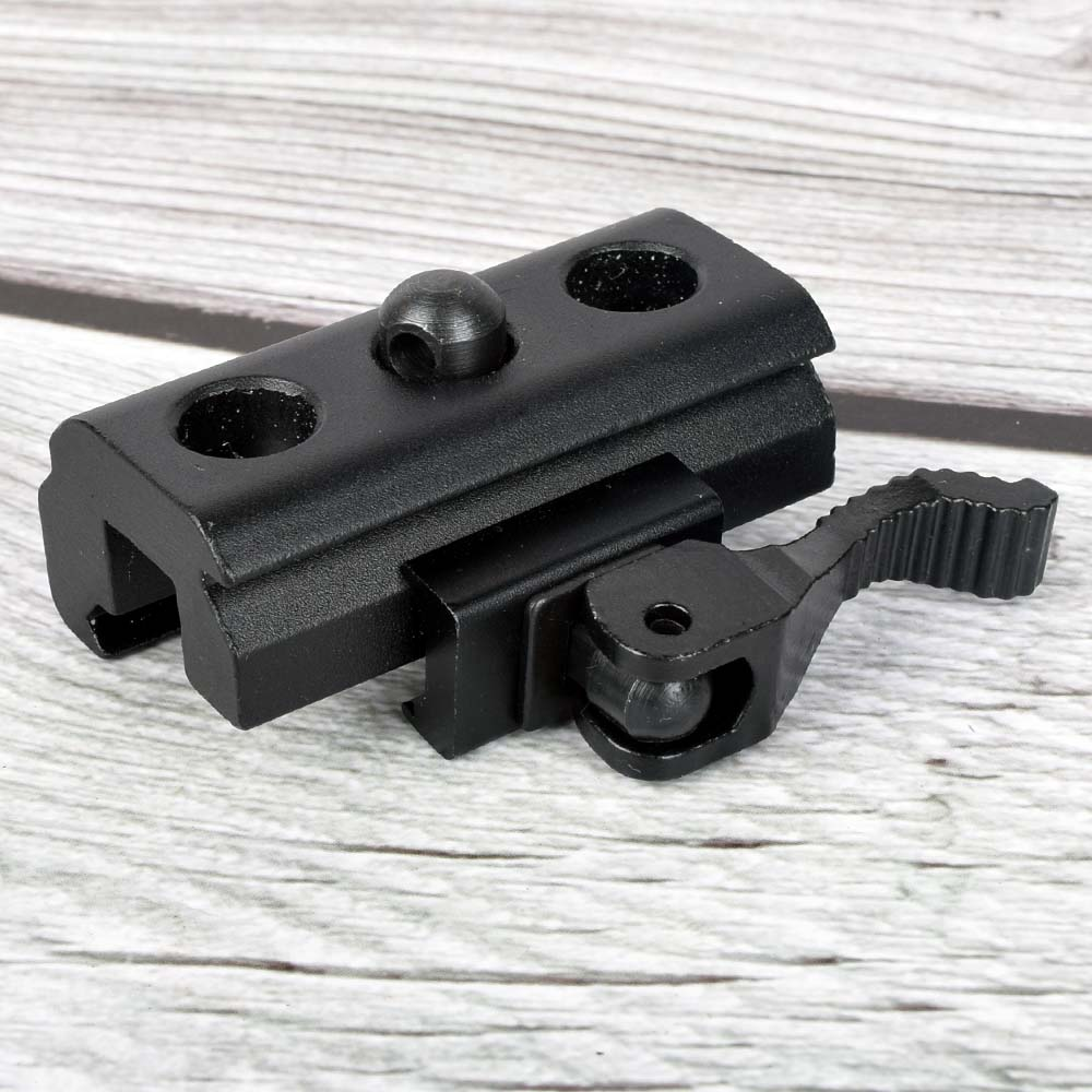 20mm Hunting QD Harris Style Bipod Sling Swivel Adapter Mount Weaver Picatinny Rail Mount For RAS, RIS Rails Rifle Gun Black