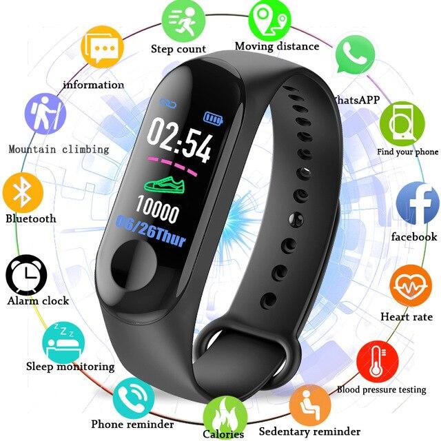 2019 New Color Screen Outdoor Fitness IP67 Waterproof Pedometer Sport Running Calorie Count Tracker Heart Rate