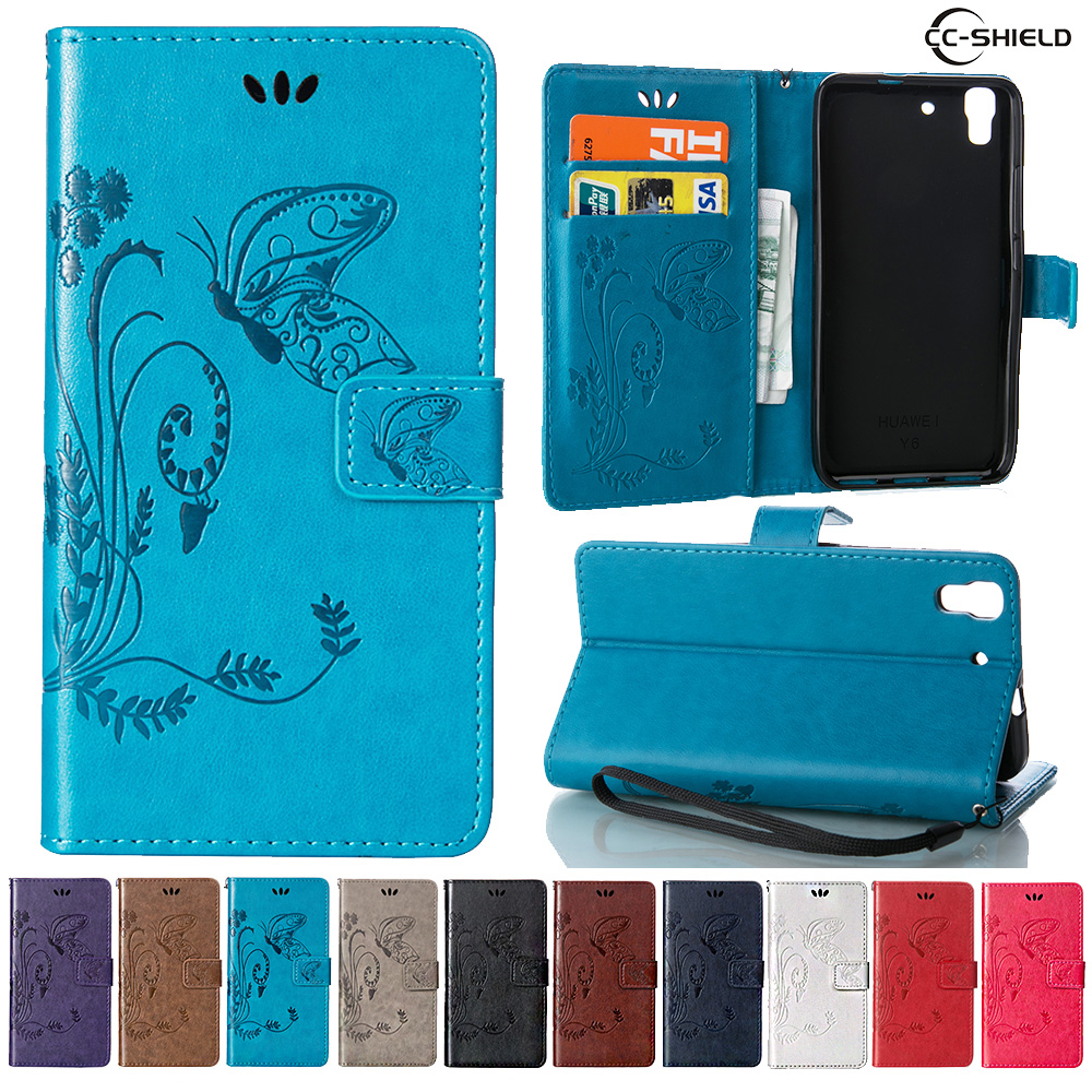 Case For Huawei Y6 Y 6 Scl L01 Scl L03 Leather Flip Cover
