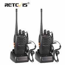 "2 vnt. ""Retevis H777"" nešiojamasis ""Walkie Talkie"" 16Ch UHF 400-470MHz ""Ham Radio Hf"" radijo imtuvas ""2 Way cb"" ""Radio Communicator Walkie Talkie"""