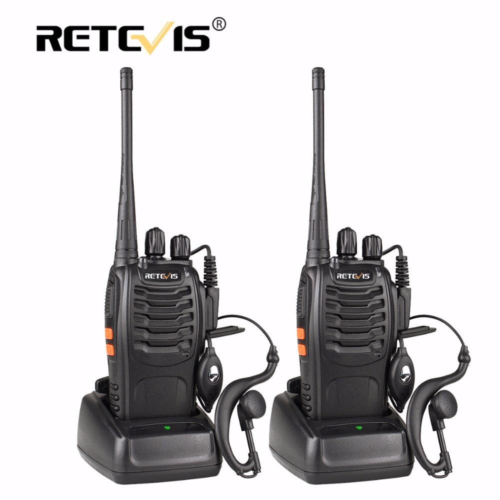 2 unids retevis H777 walkie talkie portátil 16CH UHF 400-470 MHz ham radio HF transceptor 2 vías CB comunicador de radio walkie-talkie