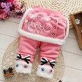 Бесплатная доставка зима девочка ребенок утолщенной брюки Леггинсы сокровище