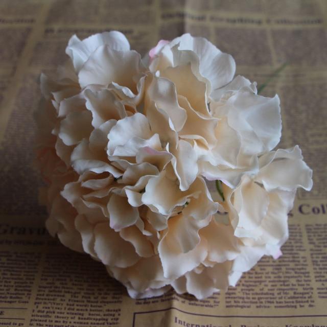 APRICOT Silk flower Wedding Decoration Artificial flowers Spring vivid Big Hydrangea wedding flowers decoration 15colors 5