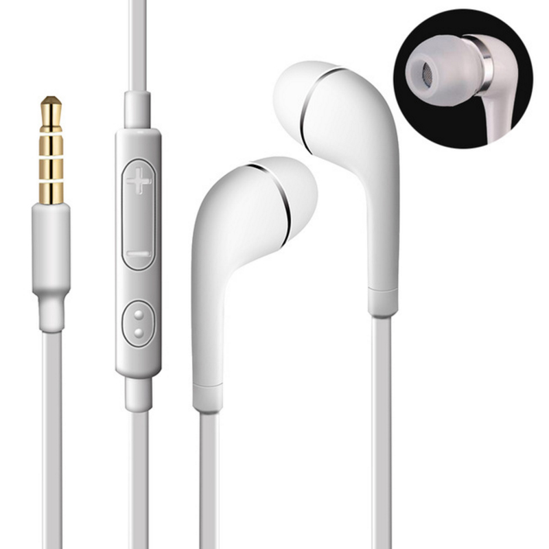 Best gift  Stereo Earphones 3.5mm Earbuds Headset Sport Headset With Mic for iphine xiaomi LG Samsung Galaxy S3 S4 S5 S6 S7