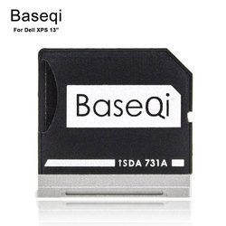 Baseqi Micro SD Adapter Metal Ninja Stealth Drive Extra Disk Card Reader for Dell XPS 13 laptop MicroSD to SD 731A Cardreader