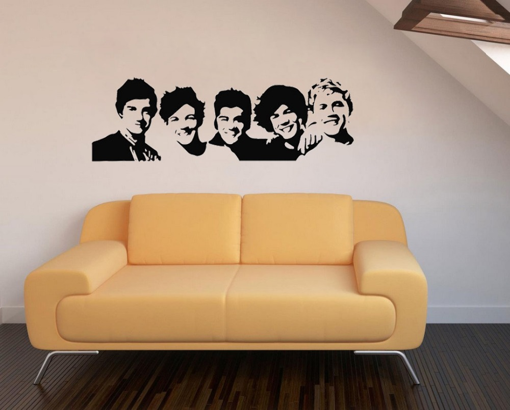 One Direction 1D vinyl young bedroom art mural wall decals stickers ...