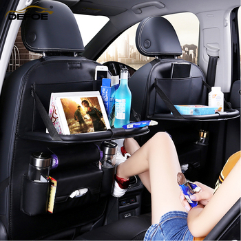 Class A Car seat cover back seat fold Dining rack car seat storage bag Multifunction vehicle storage boxcar car seat cushion