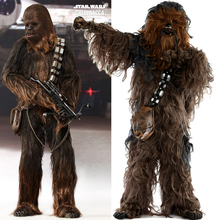 מלחמת הכוכבים Chewbacca קוספליי תלבושות ליל כל הקדושים מסיבת תחפושות חליפת סרבל קסדת כפפות תיק נעל כיסוי