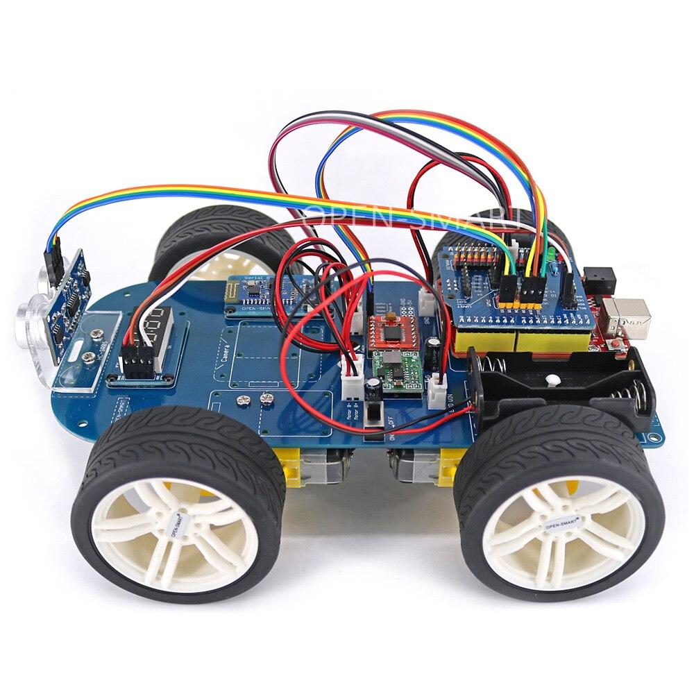 Smart Car Kits >> Open Smart 4wd Serial Bluetooth Control Rubber Wheel Gear Motor