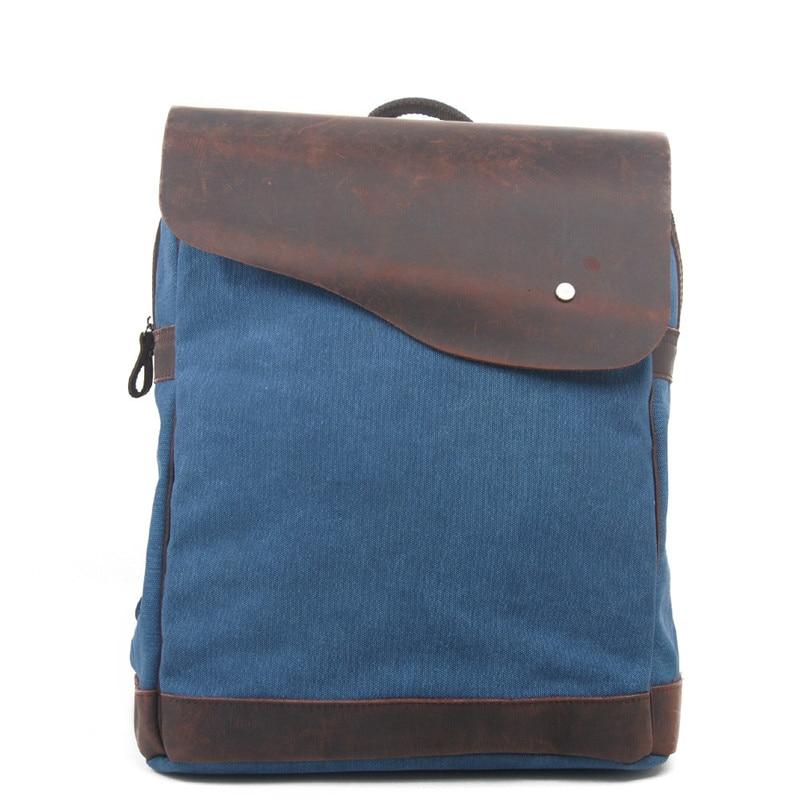 Women Men Canvas Vintage Rucksack Backpacks Travel High-capacity Student Computer Package Shoulder Bags