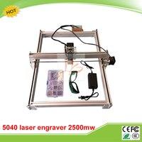 LY 5040 2500MW Blue Violet Laser Engraving Machine Mini DIY Laser Engraver IC Marking Printer Carving