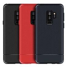 Case For Samsung S9+ S9 S8 S8+ NOTE 8 9 plus TPU Carbon Fiber Texture Bumper Shockproof Cover Soft Non-Slip Phone Bag