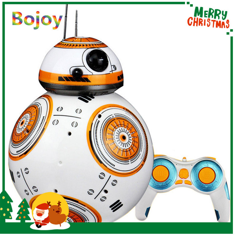 RC Robot Ball toy BB-8 remote control Star War toys BB8 smart wars robot Action Figure Intelligent Ball Toys For boy kids robot classic toys 360 degree rotation toy detective robot action figure toy deformation robot remote control toy for child gift
