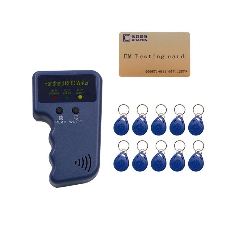 De poche 125 KHz EM4100 RFID Copieur Writer Duplicateur + 10 pcs EM4305 inscriptible télécommandes et 1 pc TK4100 carte livraison gratuite