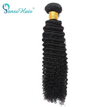 Panse Hair 1 PCS Per Lot Brazilian Hair Deep Curly Human Hair Weaving Customized 8-30 inches Non Remy Hair Free Shipping(China)