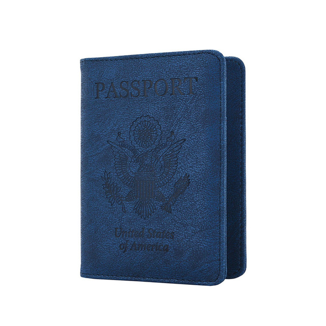 New Rfid Blocking Passport Cover Multifunction USA Passport Case American Covers for...