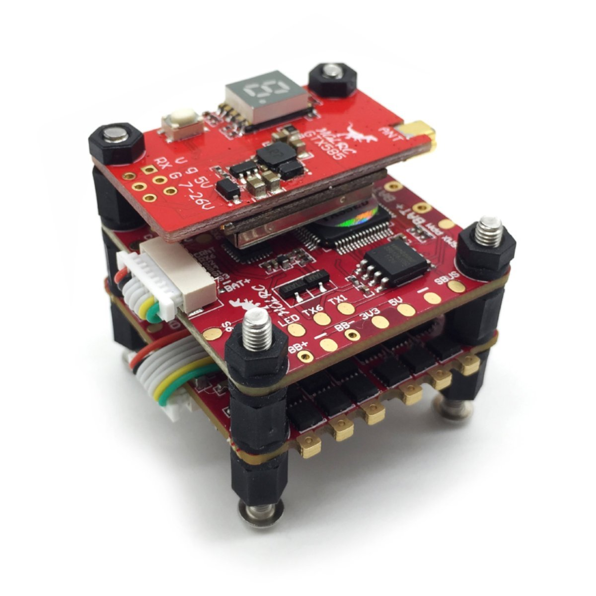 HGLRC Titan Plus F460-GTX585 Pile AIRBUS F4OSD contrôleur de vol Dinoshot 60A Blheli_32 3-6 S ESC GTX585 VTX émetteur audiovisuel