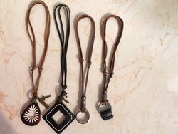 Genuine leather hand made adjustable eyeglass pendant spectacle strings.jpg 250x250