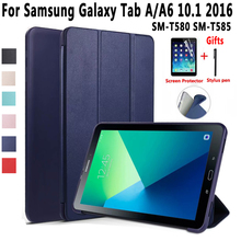 Case for Samsung Galaxy Tab A A6 10.1 2016 SM-T580 SM-T585 T580 T585 SM-T580N SM-T585N T580N Soft Shockproof Smart Cover Funda high quality smart flip case for samsung galaxy tab a 10 1 2016 t585 t580 sm t580 t580n case cover gift screen protector