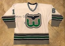 f1b0699b15d Hartford Whalers Jersey WHITE green BOBBY HULL #16 Men's Hockey Jersey  Embroidery Stitched Customize any