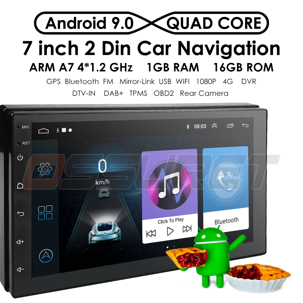 HOT SALE] Quad core Android 9 0 Car universal radio for