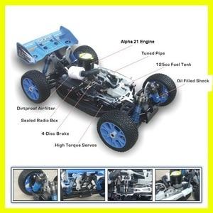 Image 3 - RC off road VRX Corse RH802 VRX 2 1/8 nitro RTR 4WD buggy, force.21 nitro motore nitro telecomando giocattoli auto, nitro potenza