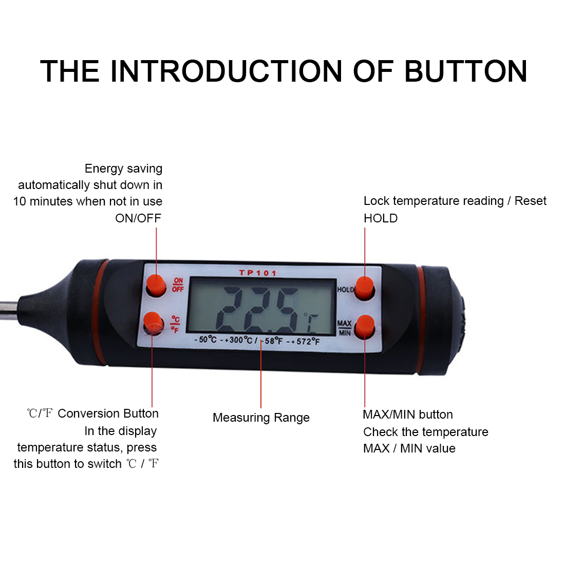 HOT Cooking Thermometers Outdoor kamp malzemeleri LCD Screen Digital BBQ Cooking Thermometer Pen For Food Meat Milk Wholesale