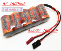 VB Power 6V 2 3A 1600MAH 2 3A NI MH Rechargeable Battery Trapezoidal Gasoline Receiver Battery