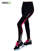 WOSAWE Cycling Pants Bicycle Tights Sportswear Women Bike Riding Cycling Clothing Padded Tight Pants Trousers Ciclismo