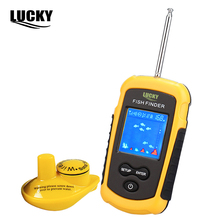 LUCKY Brand Fish Finder  Wireless Sonar echo sounder Fishfinder 40m Depth Range Ocean Lake Sea Fishing Carp Fishing FFW1108-1