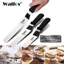 WALFOS espátula de acero inoxidable para mantequilla, cuchillo crema pastel para pastel, esparcidor de glaseado y escarchado pastel de Fondant, decoración de pasteles