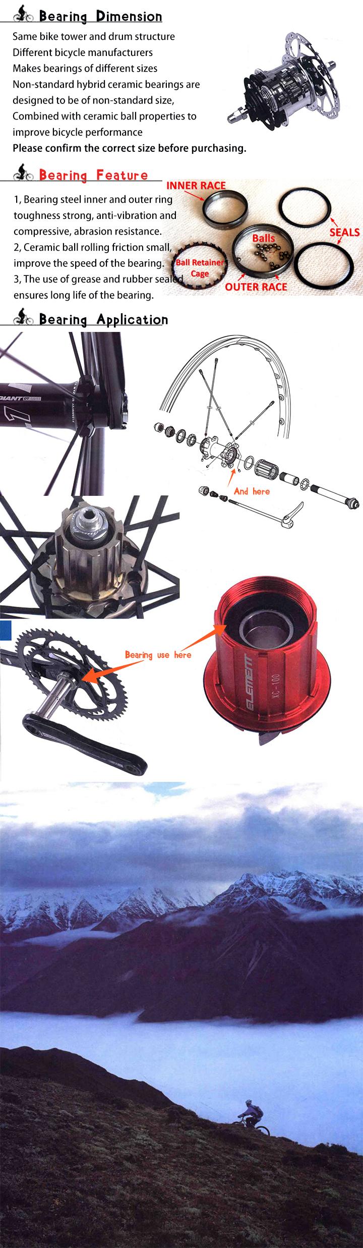 Details about 18307 Hybrid Ceramic Bearing 18x30x7 mm 18307RS Bicycle Balls  Bearing 18mm ABEC1