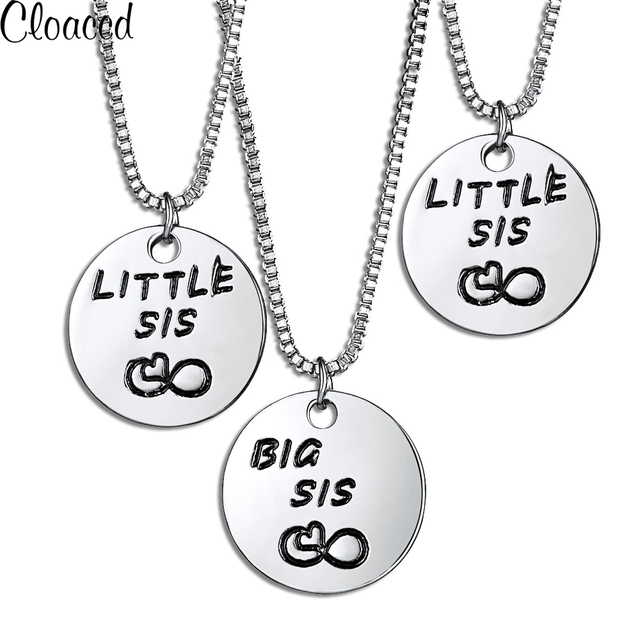 Cloaccd new fashion 3pcsset silver color circular family sister cloaccd new fashion 3pcsset silver color circular family sister pendant necklace for women girlfriends aloadofball Image collections