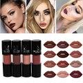 Miss rose hot nuevo kit de maquillaje de larga duración lápiz labial lipgloss impermeable marrón rojo líquido mate nude lipstick tatuaje