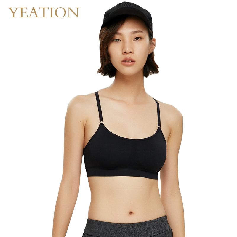 YEATION Fitness Yoga Sports Bra For Running Gym Adjustable Straps Seamless Top Athletic Vest in Sports Bras from Sports Entertainment