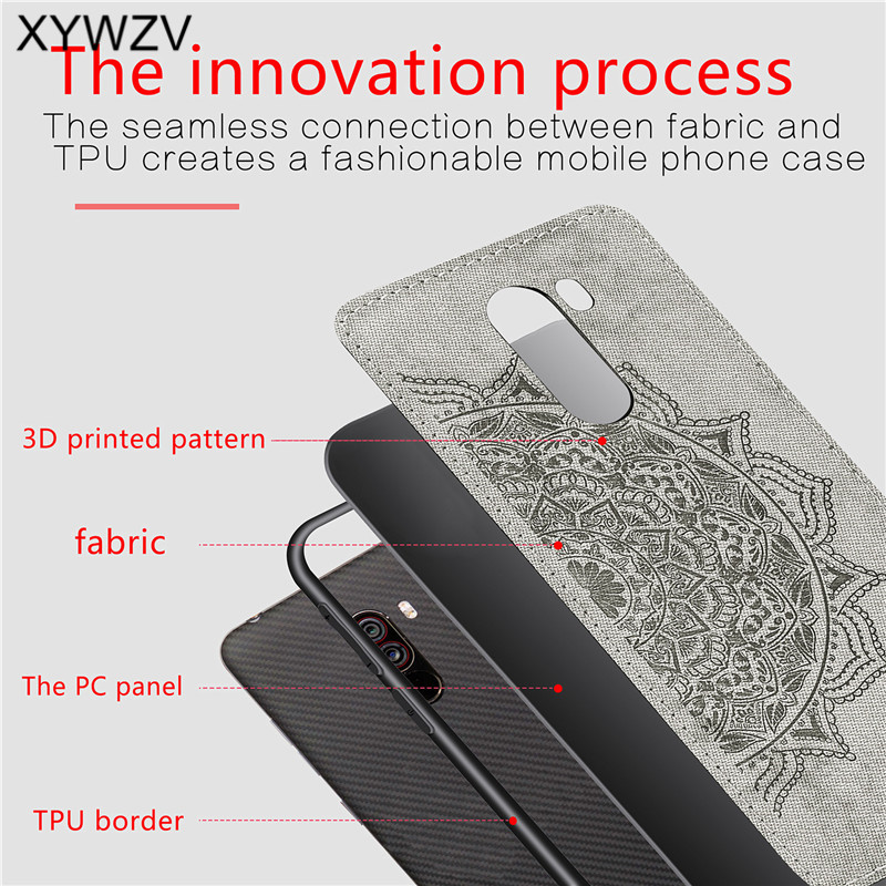 Image 3 - Xiaomi Pocophone F1 Case Soft TPU Silicone Cloth Texture Hard PC Phone Case For Xiaomi Pocophone F1 Cover Xiaomi Pocophone F1-in Fitted Cases from Cellphones & Telecommunications