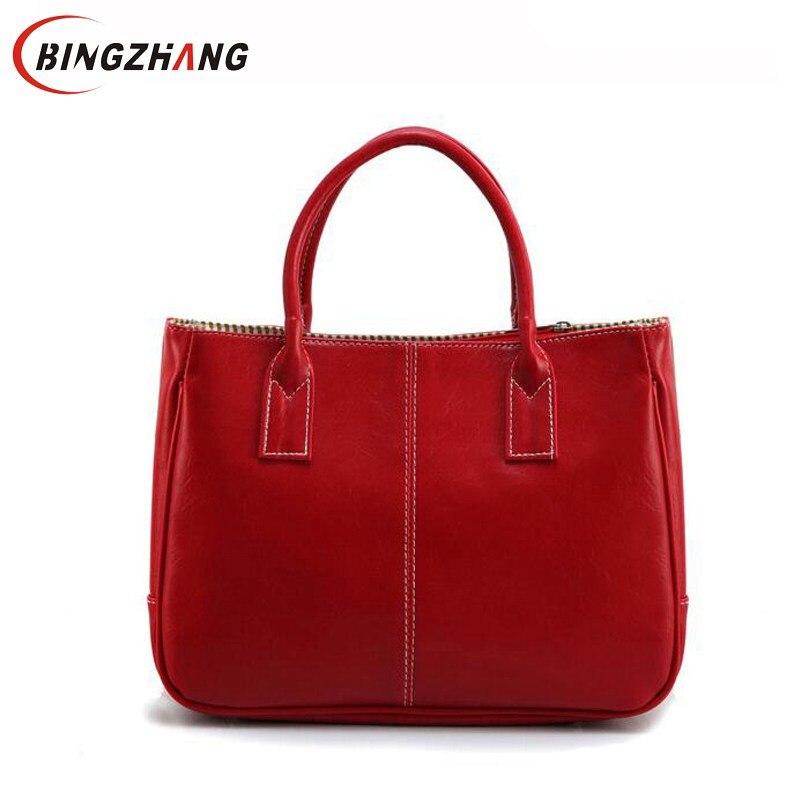 Hot Sale Women Bag Fashion PU Leather Women's Handbags Bolsas Top-Handle Bags Tote Women Shoulder Messenger Bag L8-13