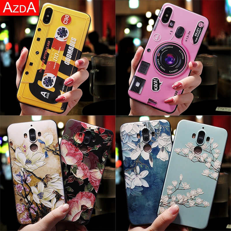 3D Soft TPU Cover For Honor 8X 7A Pro 9 10 Lite For Huawei P Smart 2019 Mate 10 20 P8 P9 P10 P20 P30 Nova 3 3i Matte Floral Case