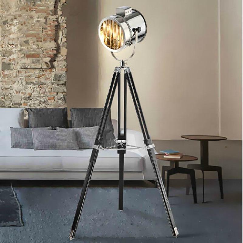 Modern Zemin Lambası Tripod ayakta Lamba Oturma odası Abajur - İç Mekan Aydınlatma - Fotoğraf 3